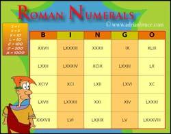 Printables 100 Roman Numeral roman numerals bingo free printable cards bingo
