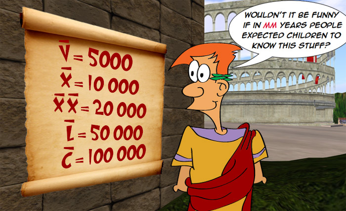 10000-in-Roman-Numerals ... Large Roman Numerals - How Did They Write ...